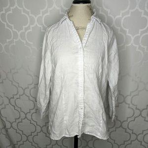 Foxcroft NYC Linen Button Shirt